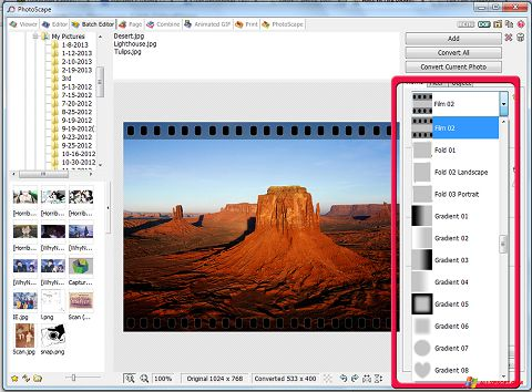 Ekraanipilt PhotoScape Windows XP