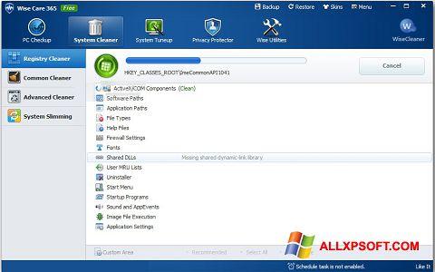 Ekraanipilt Wise Care 365 Windows XP