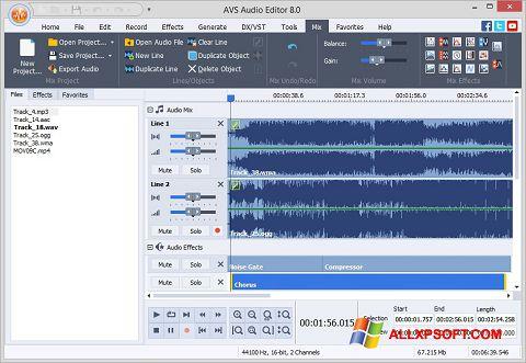 Ekraanipilt AVS Audio Editor Windows XP