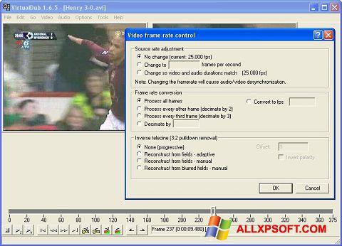 Ekraanipilt VirtualDubMod Windows XP