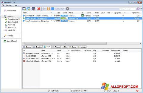 Ekraanipilt BitTorrent Windows XP