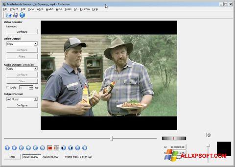 Ekraanipilt Avidemux Windows XP
