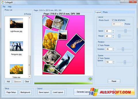 Ekraanipilt CollageIt Windows XP
