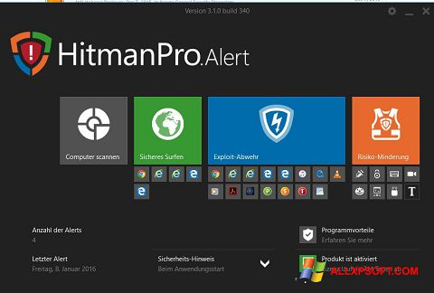 Ekraanipilt HitmanPro Windows XP