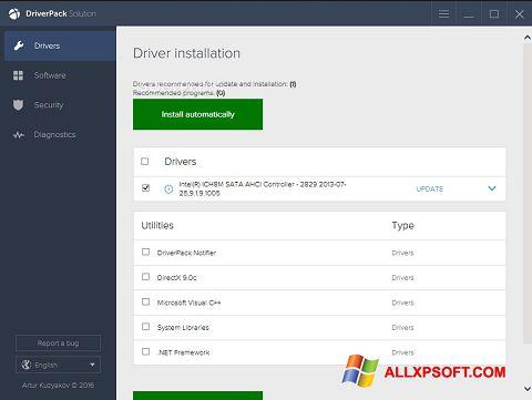 Ekraanipilt DriverPack Solution Windows XP
