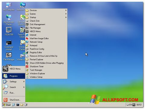 Ekraanipilt Hirens Boot CD Windows XP