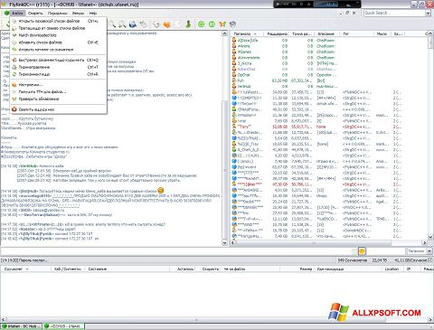 Ekraanipilt FlylinkDC++ Windows XP