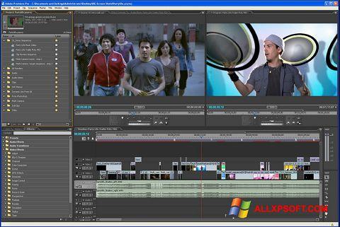 Ekraanipilt Adobe Premiere Pro Windows XP