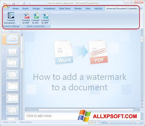 Ekraanipilt Microsoft PowerPoint Windows XP
