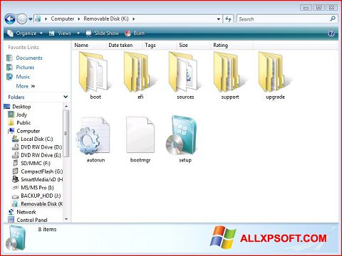 Ekraanipilt Windows 7 USB DVD Download Tool Windows XP