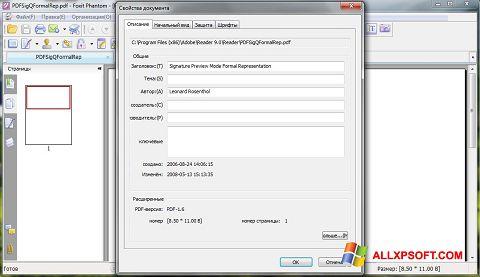 Ekraanipilt Foxit Phantom Windows XP