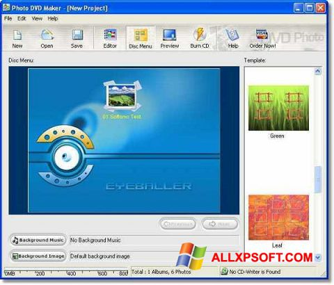 Ekraanipilt DVD Maker Windows XP