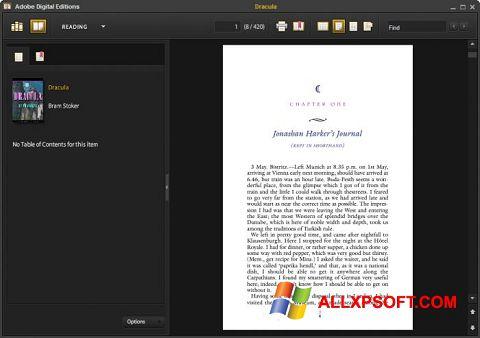 Ekraanipilt Adobe Digital Editions Windows XP