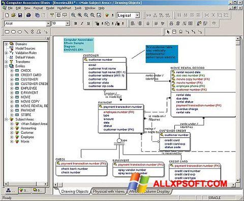 Ekraanipilt ERWin Windows XP