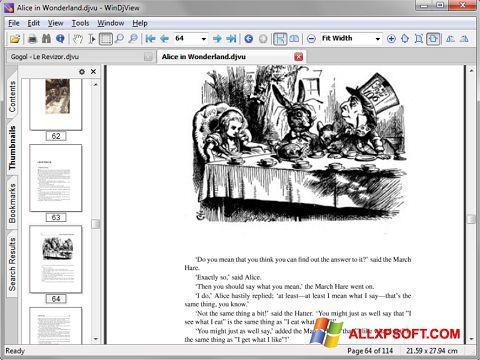 Ekraanipilt DjView Windows XP