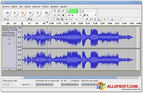 Ekraanipilt Audacity Windows XP