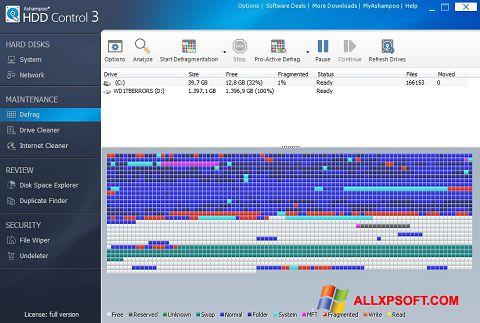 Ekraanipilt Ashampoo HDD Control Windows XP