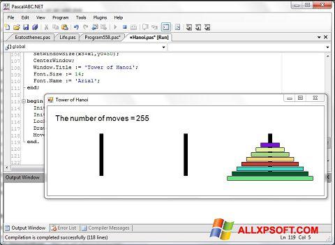 Ekraanipilt Pascal ABC Windows XP