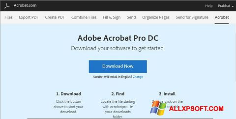 Ekraanipilt Adobe Acrobat Windows XP