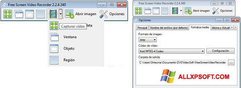 Ekraanipilt Free Screen Video Recorder Windows XP