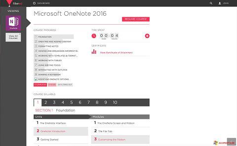 Ekraanipilt Microsoft OneNote Windows XP