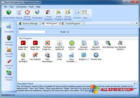 Ekraanipilt Revo Uninstaller Pro Windows XP